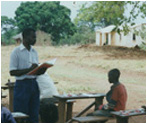 african classroom outside