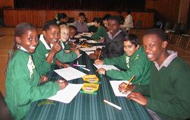 South African Teenagers in classroom