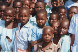 Uganda school children