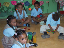 Dominican Children learning