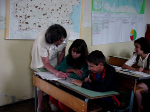 Romanian Children in Classroom